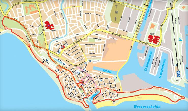 routekaart dagattractie zonnetrein